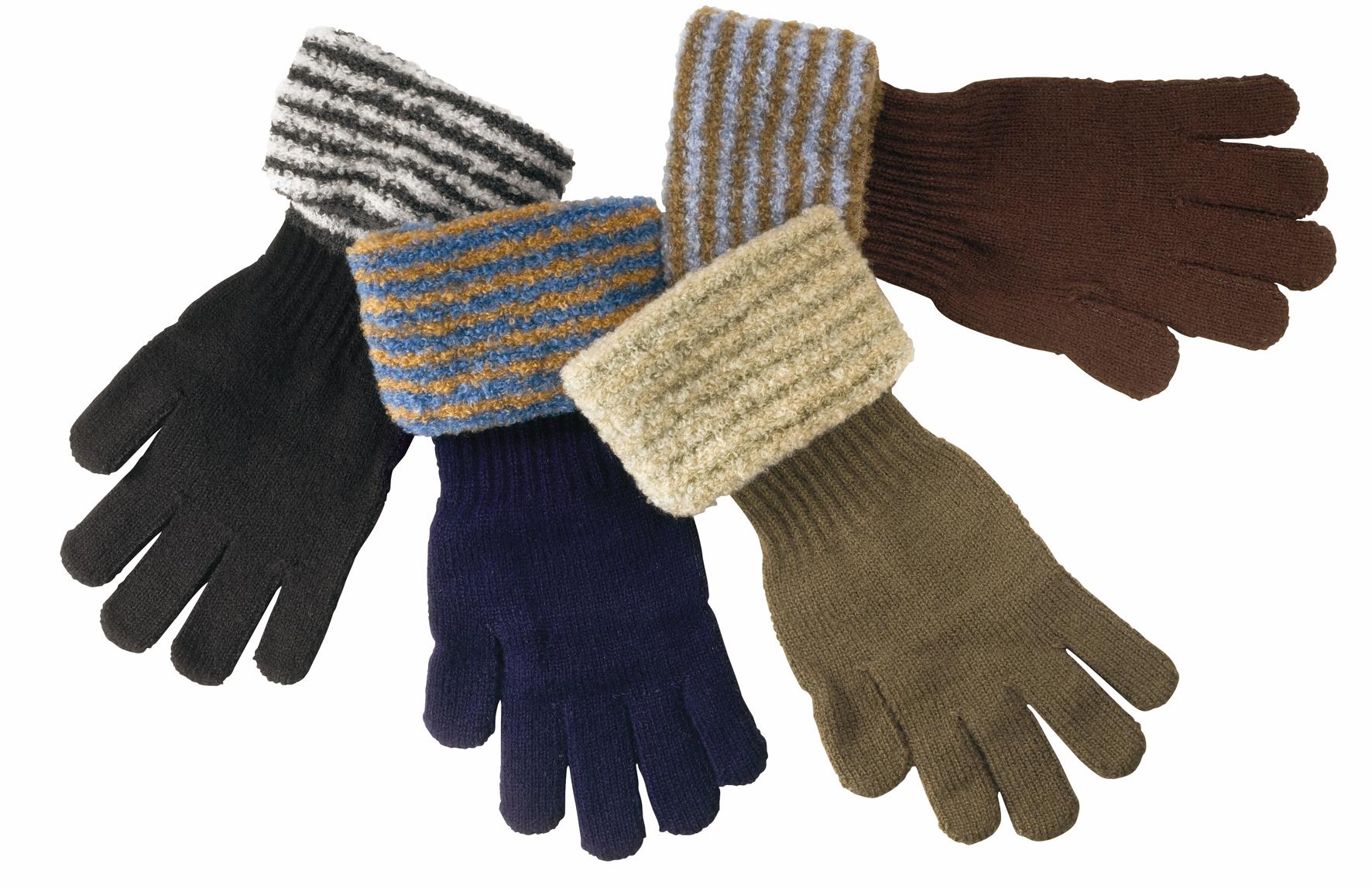 rukavice prodloužené - čokoládově hnědé
