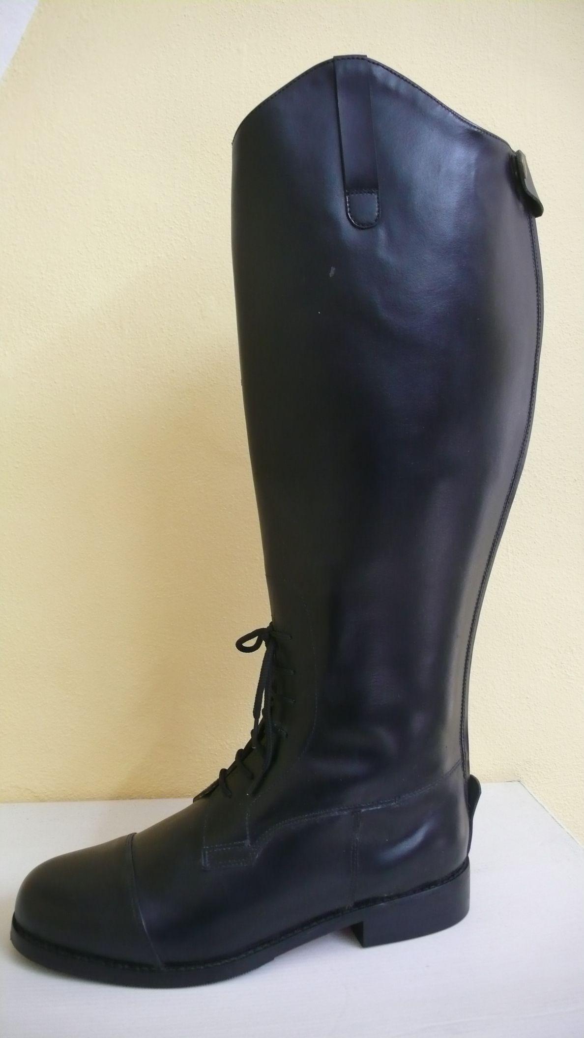boty jezdecké kožené vysoké
